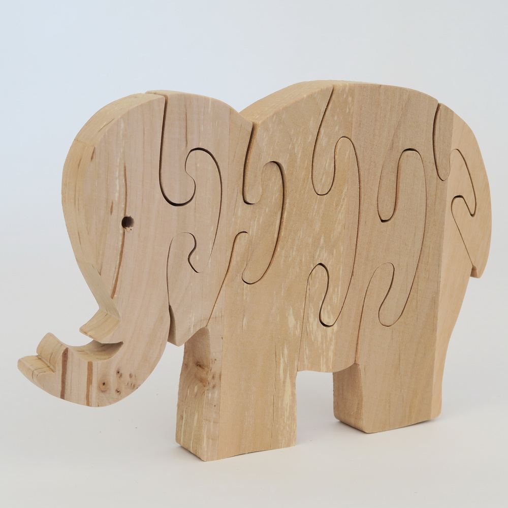 tierpuzzle gro elefant produkte aus holz kreatives lindenwerkst tten onlineshop. Black Bedroom Furniture Sets. Home Design Ideas