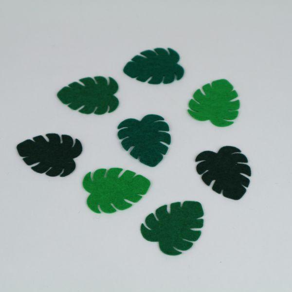 8 Palmenblätter aus Filz