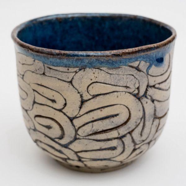 Keramik Übertopf in verschiedenen Glasuren